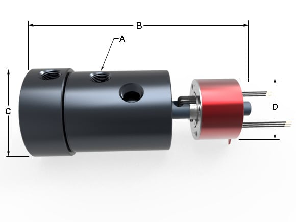 electrical slip rings with rotary union