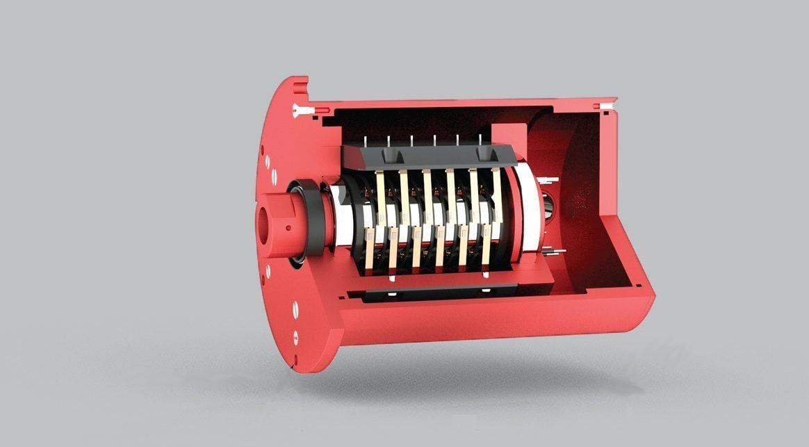 rotary systems sr017 slip ring inside view